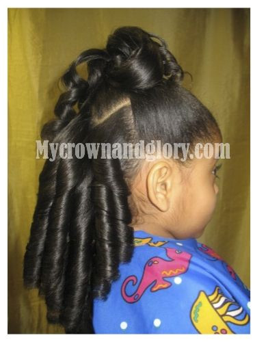 bination of ponytail and curls Pinned from