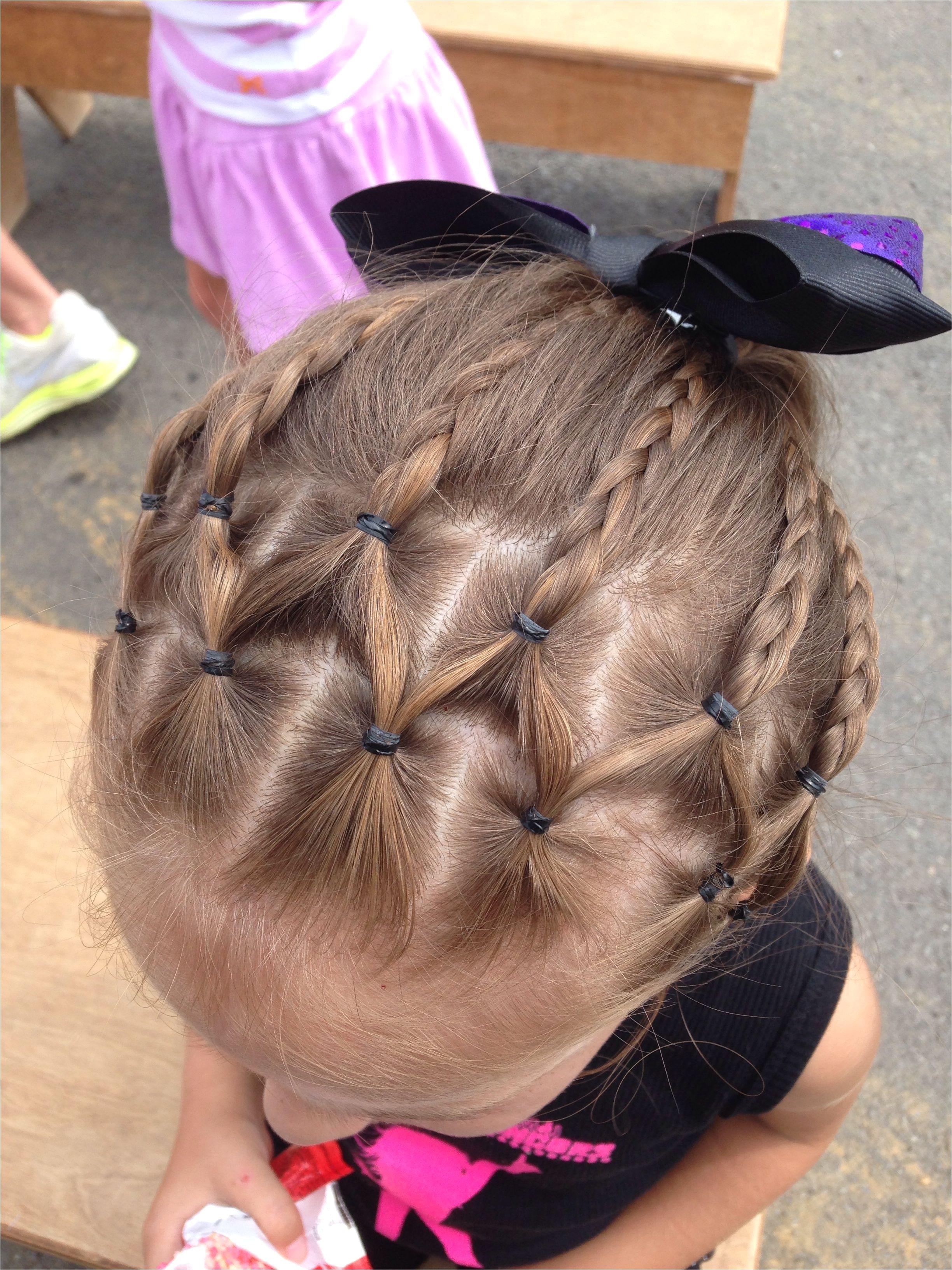 Little Girl Hairstyle Cute hair for dance recital