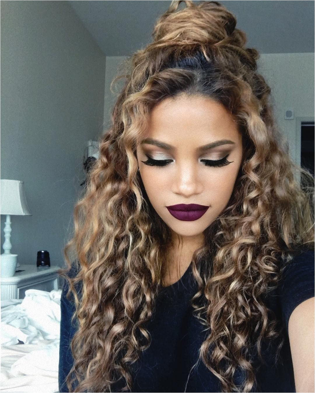 Dyed Curly Hair Colored Curly Hair Black Curly Hair Curly Hair Tips
