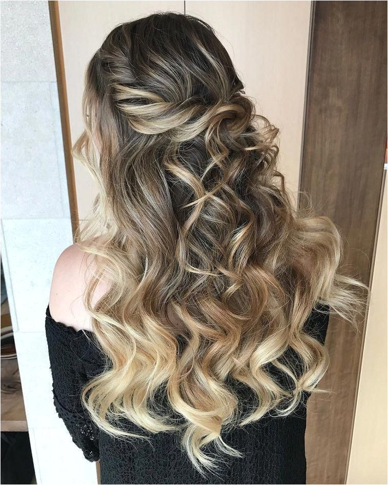 Pretty Half up half down hairstyles partial updo wedding hairstyle is a great options for