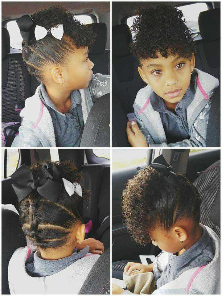"Hairstyles for Little Black Girls Inspirational Pin Od Pou…¾vate""¾a Pam Na Nástenke Hair"