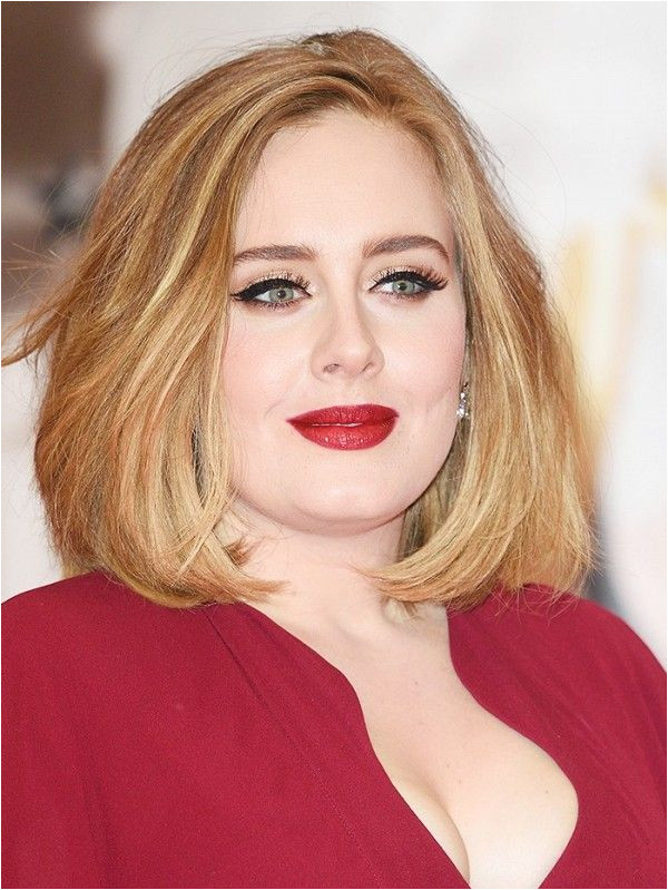 11 Most Flattering Hairstyles for Round Faces The Lob on Adele