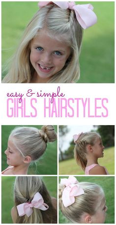 Easy and Simple Girls Hairstyles DIY Tutorials and Easy Hair Tips for your little girls