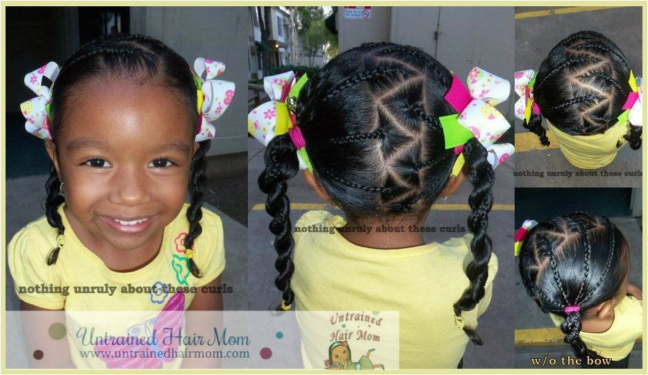 Style 5 Diagonal Parted Braids into Pigtails