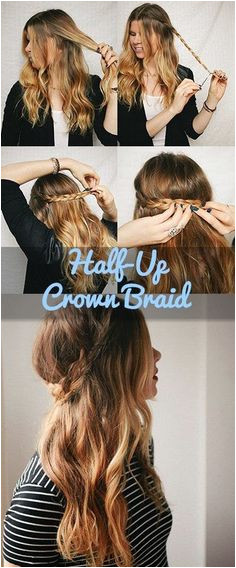 How To Nail The Half Up Crown Braid In 5 Easy Steps