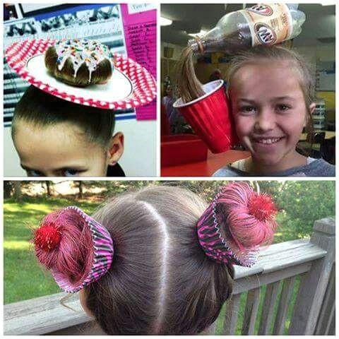 Lol te crazy hair day ideas