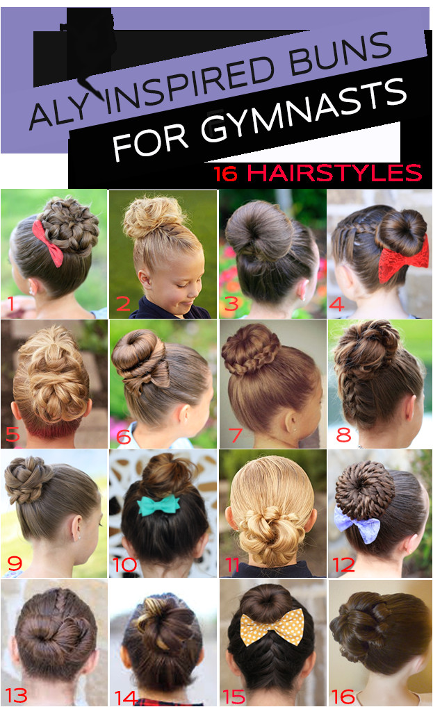 16 Gymnastics Hairstyles for petition Day The Bun Edition