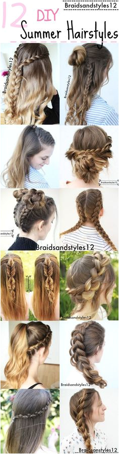 12 Gorgeous DIY Summer Hairstyle Ideas by Braidsanstyles12 Beachy Hairstyles by Braidsandstyles12 Diy Hairstyles
