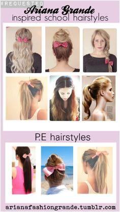 Great school hairstyles by Adriana grande