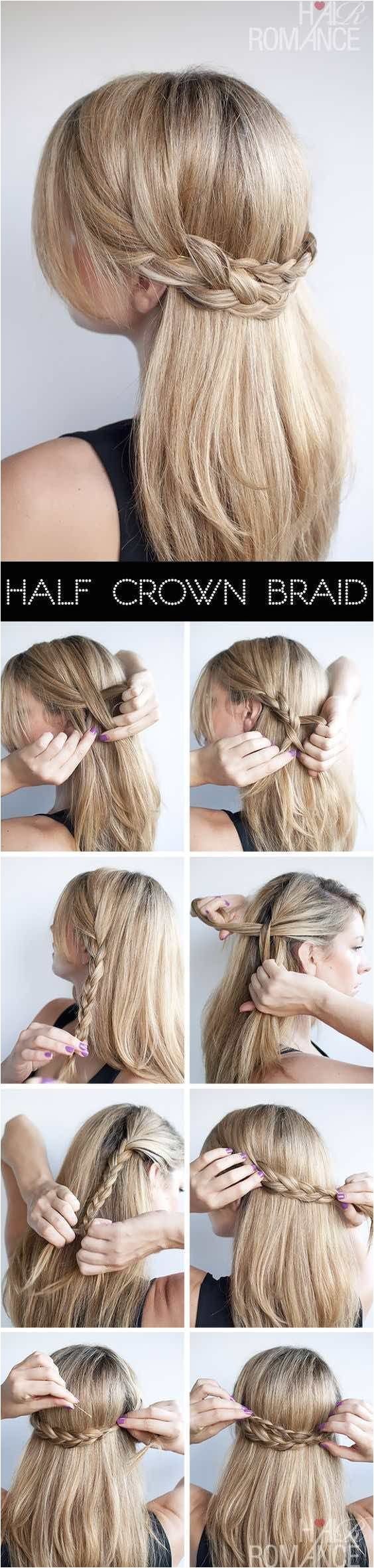 Hair Romance Half crown braid half up half down wedding hairstyle