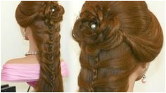 Party Braided Hairstyle with Rose Video Dailymotion