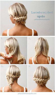 Easy Upstyles For Medium Hair Summer Hairstyles For Medium Hair Hairstyles For The Gym