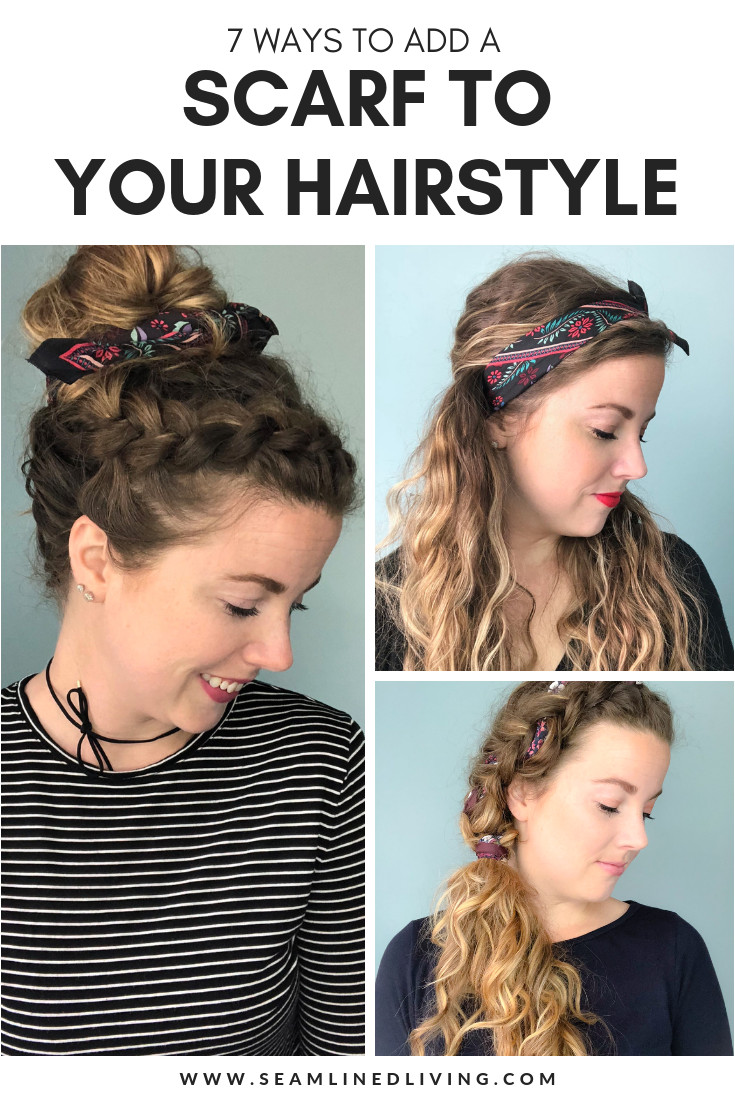 How to Style a Scarf in Your Hair Adding a scarf to your look can be a great way to wear your hair to school work or for a casual weekend