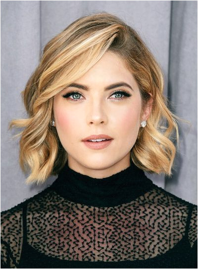 Ashley Benson Short Curly Blonde Bob Hairstyle
