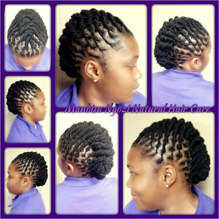 Loc styles by NeciJones Short Dreadlocks Styles Dreadlock Styles Short Hair Styles Updo