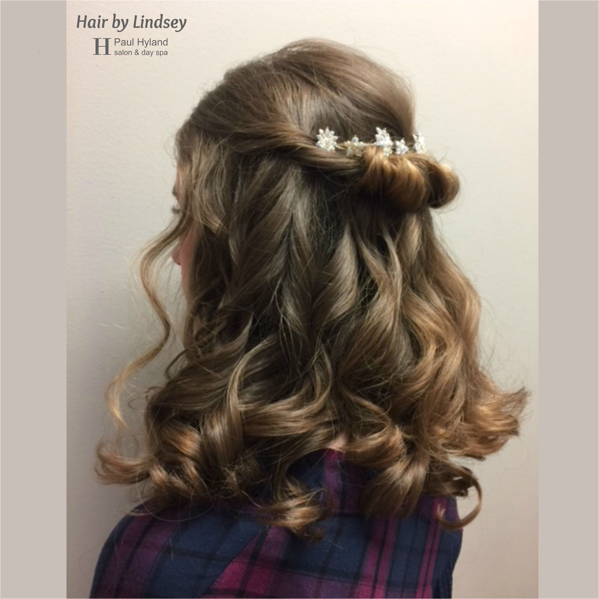 Paul Hyland Salon And Day Spa Twists and curls Pretty down style for wedding