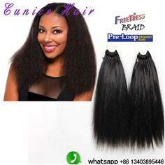 Aliexpress Buy African Hairstyle Crochet Hair Pre Loop Yaki straight Premium Hair classic feeling Synthetic Braiding Hair 18inch Extension from