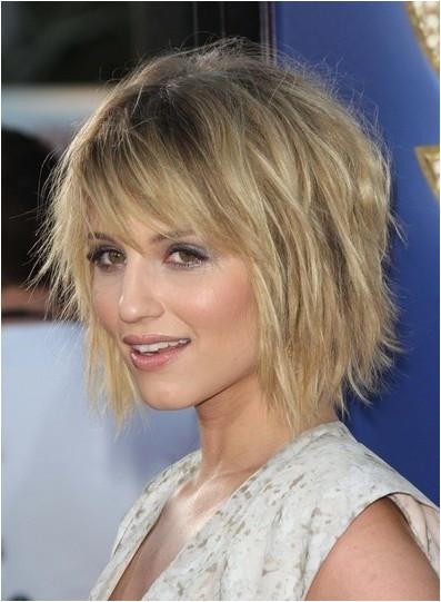 Dianna Agron Hairstyle For Thin Hair Choppy Bob Hairstyles For Thin Hair3