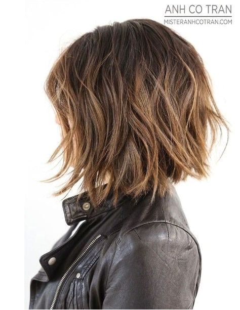 Get control of your thick coarse hair by having an ultra modern razored shaggy bob that will thin out the hair and give an amazing new shape to your hair