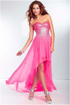 2014 Flowing Sweetheart High Low Prom Dress Beaded Bodice A Line Chiffon New Arrival High Low