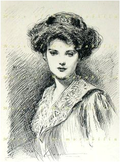 Gibson Girl Hairstyle This was so beautifully designed hats could stay put atop their heads
