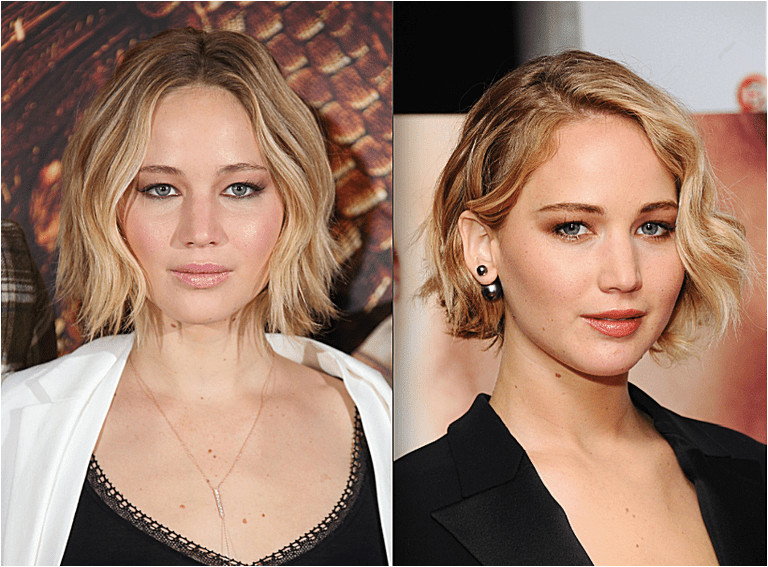 The Best Short Cuts for a Round Face Jennifer Lawrence with short hair