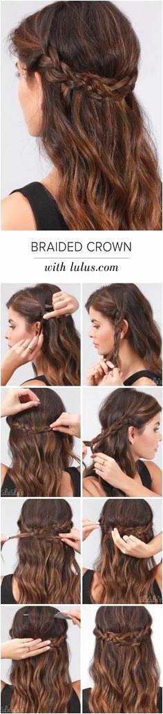 "Simple Hairdos for Long Hair Elegant Easy Braids for Long Hair Pun"" A Od 3 Pletenice Hair Style Pinterest"