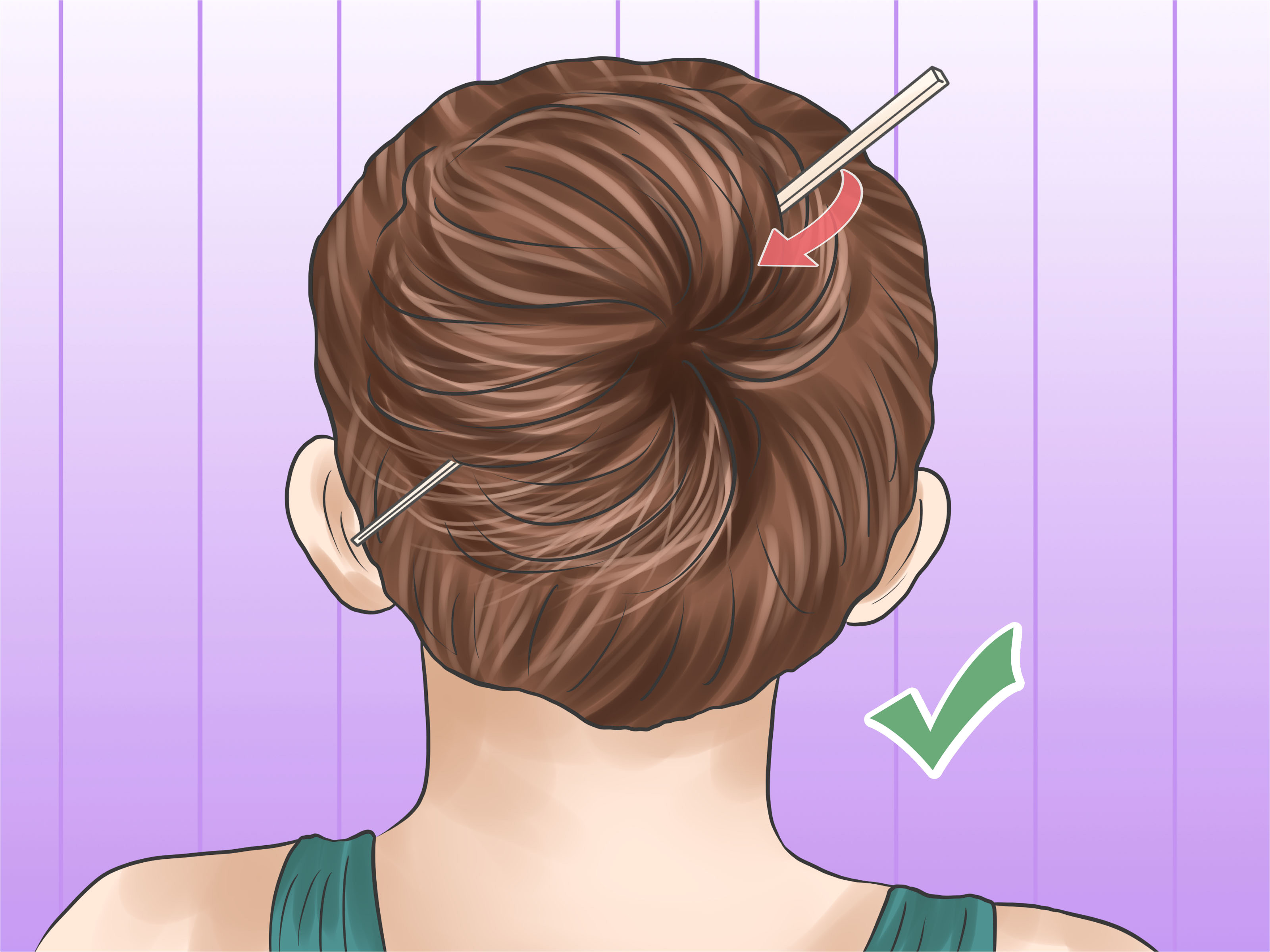 Put Your Hair up With a Pencil Step 26