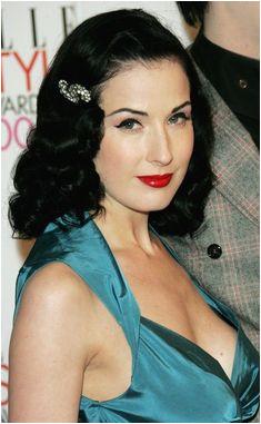 1950s Hairstyles Dita Von Teese