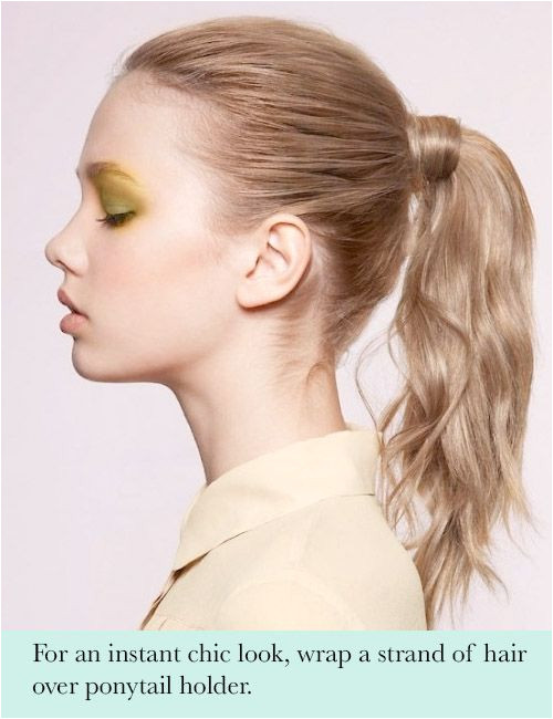 hair hack add a chic touch to your ponytail 10 Hair Hacks Every Girl Needs To Know