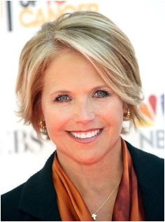 Short hairstyles for women over 50 with round faces Katie Couric La s Hairstyles Over 50