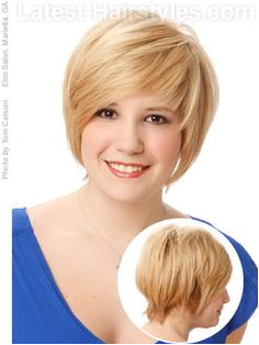 Hair Style Hair cut for round face chubby cheeks pear shaped face Alexis Lee · Hairstyles for Women Over 50