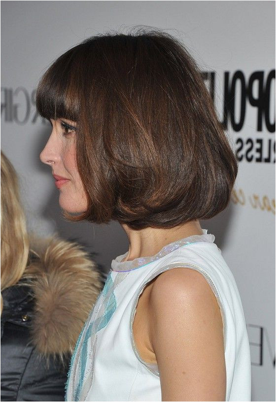 Side View of Rose Byrne Pageboy Haircut More