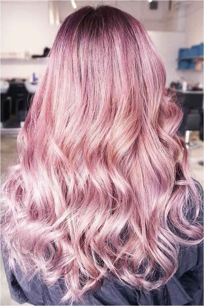 Hair Color 2017 2018 Metallic Pastel Pink Hair pinkhair brunette ❤ Want to pastel pink hair Rose ombre with dark roots perfect pink …