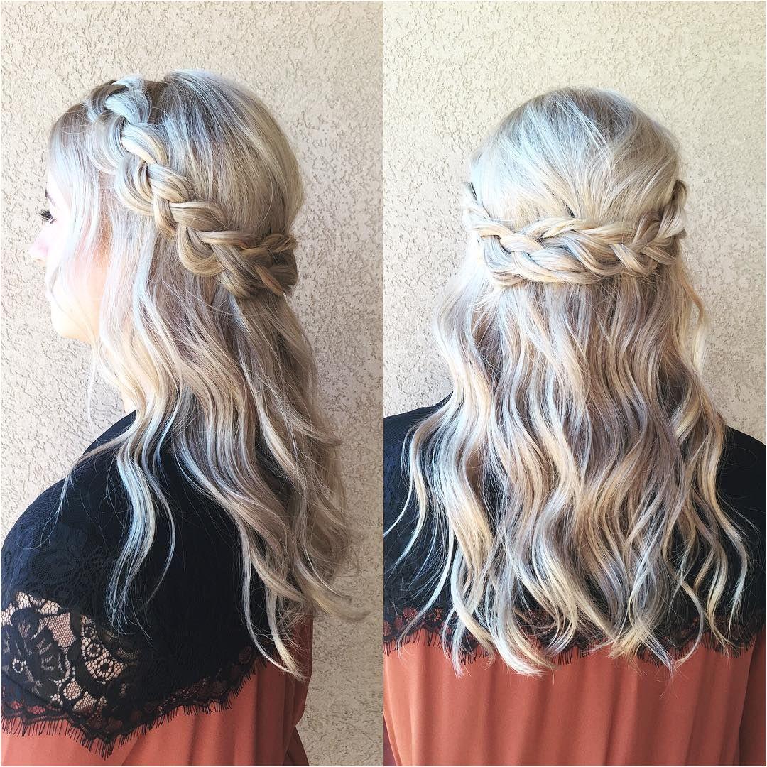 braided half up half down hair we ❤ this