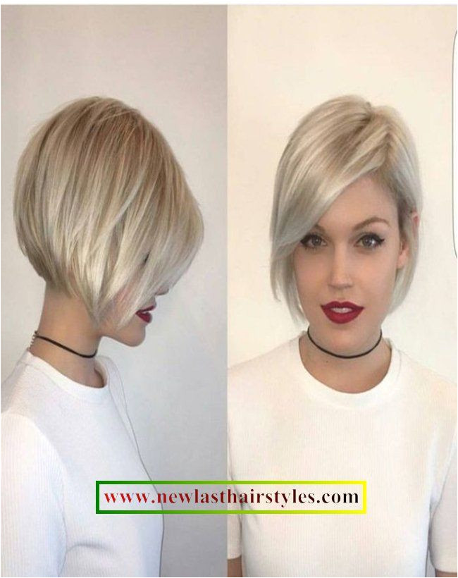 side split bob hair shape Its ideal on special occasions bob bobhairstyles bobhaircut blondeshair