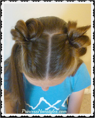 New super easy way to make space buns