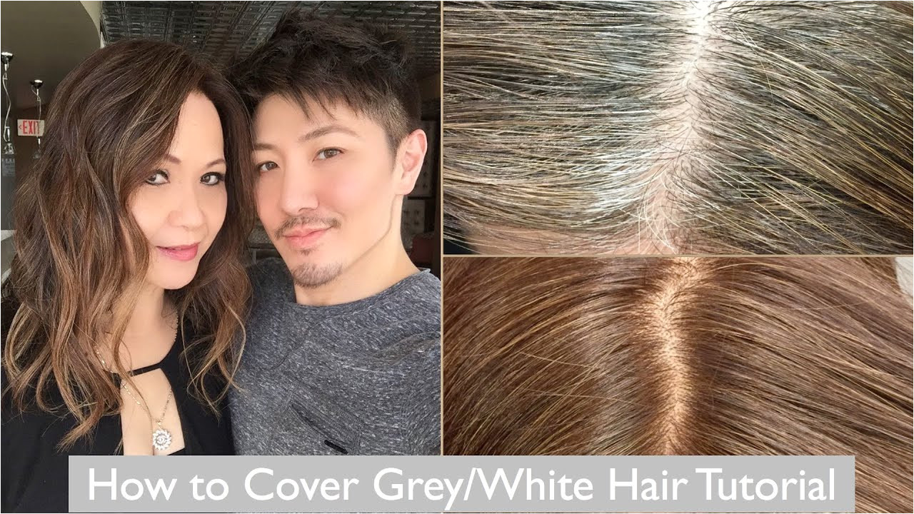 How to Cover Grey White Hair Tutorial