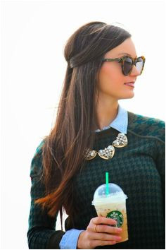 Houndstooth Chambray Preppy Hairstyles Southern Hairstyles Preppy Outfits Preppy Style Preppy