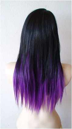 Hair Color Trends 2017 2018 Highlights Black Hair with Purple Ends Obsessed