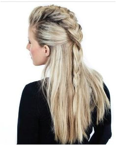 """Humidity Proof Hairstyles to Wear All Season Long the half braid takes care of what we like to call the """"problem hair""""—aka all of the pieces along your"""