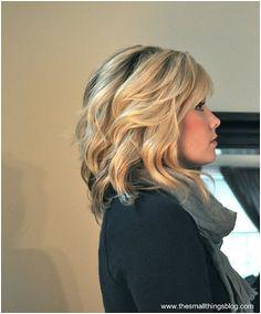 hair side swept bangs a classic chignon Wavy hair tutorial