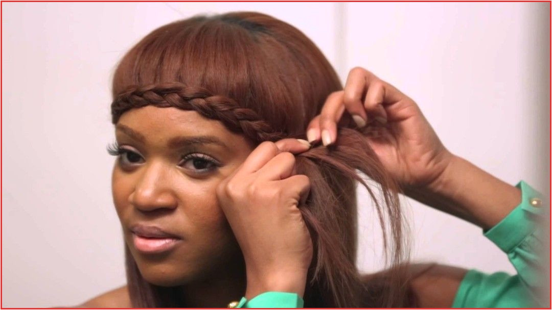 Braided Bangs Hairstyles Braided Bang Tutorial [video Braid Tutorial Braided Bangs Hairstyles