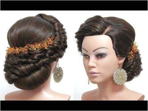 Bridal hairstyle for long hair tutorial Wedding updo step by step QuickHairstyleTutorials