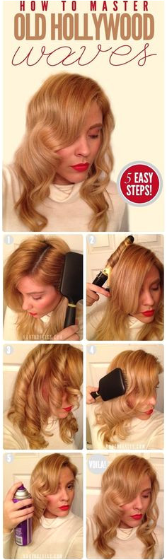 Lauren Bacall s Waves Hairstyle TutorialsVintage