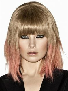 ombre hair with bangs Not a huge fan of the color but love the cut
