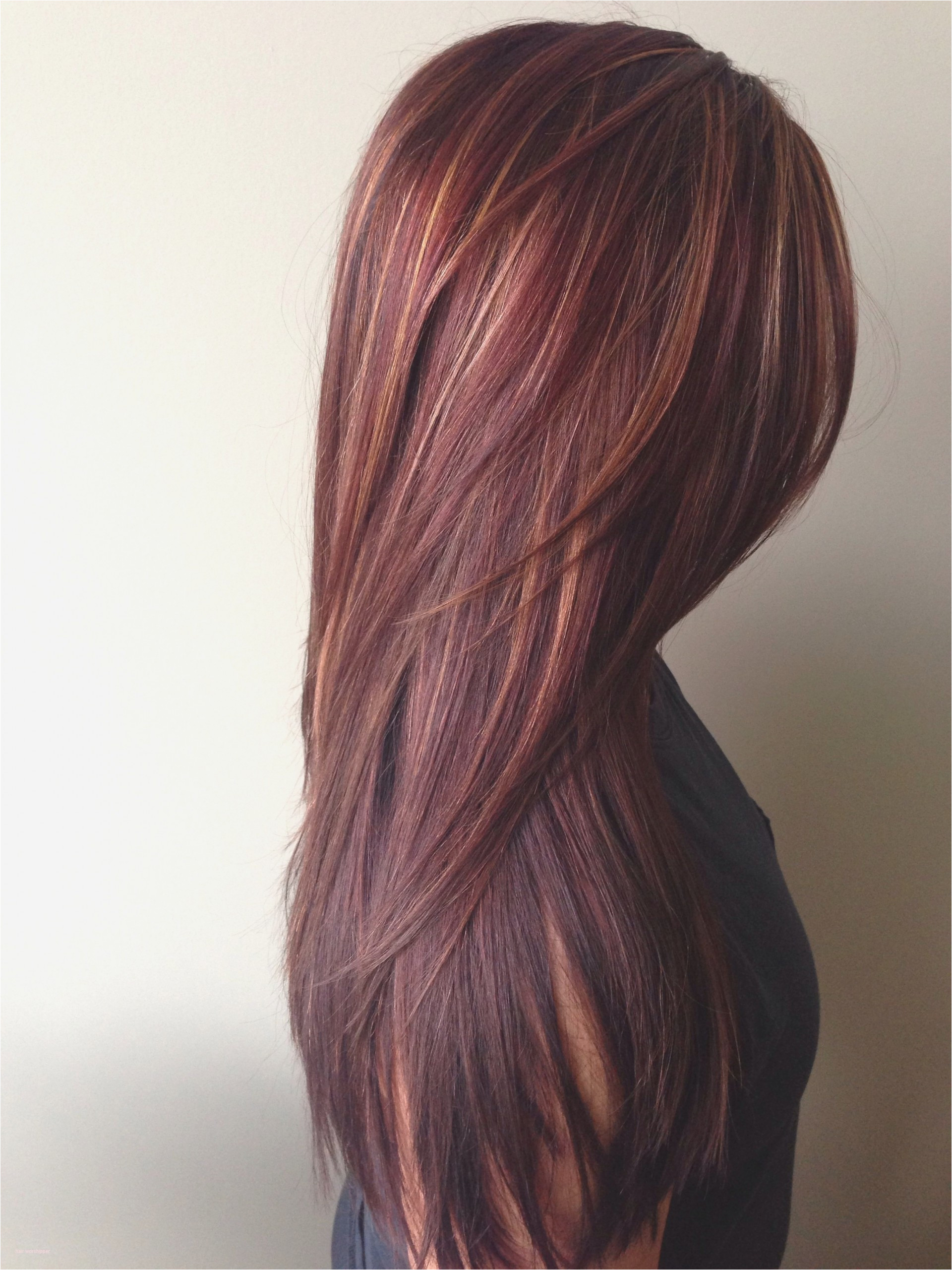 023 Dark Red Wealthy Hair Color With Caramel Highlights Lovely Rich Gorgeous Hairstyle Astounding Colors
