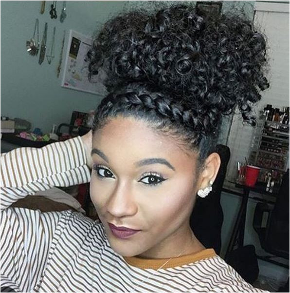 Hairstyles with Buns and Curls Hair Styles African American Hair Styles
