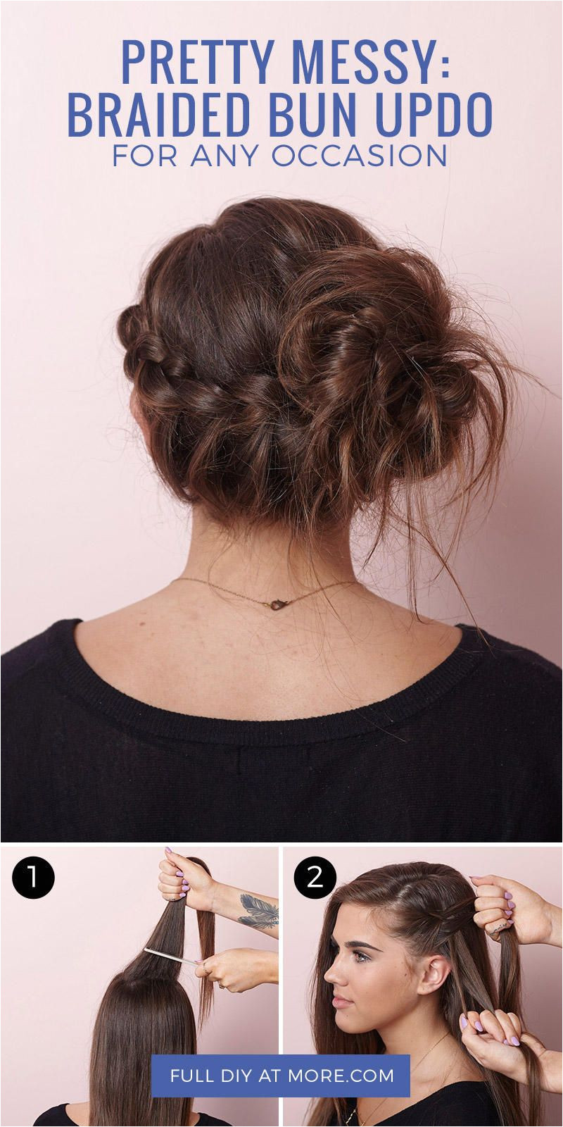 This slightly messy bun is perfect for prom home ing or any party occasion
