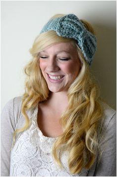 Items similar to Ear Warmers Bow Headband Crochet Wool on Etsy